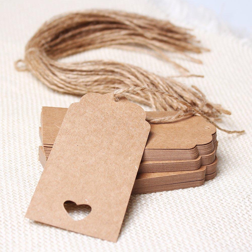 Etiquetas de papel kraft para manualidades
