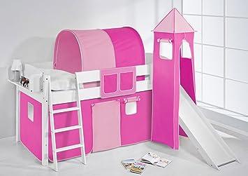 Lilo Kids Ida 4105KWTR Pink Rose Cot Wooden, 208x 220x 185cm