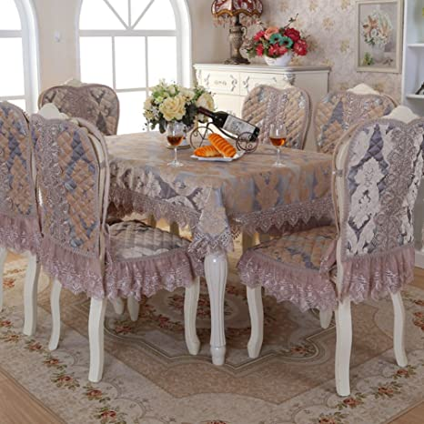 simple continental/Cubierta de la toalla de mesa/chenille/manteles rectangulares-D Diámetro del mantel redondo:180cm(70inch)
