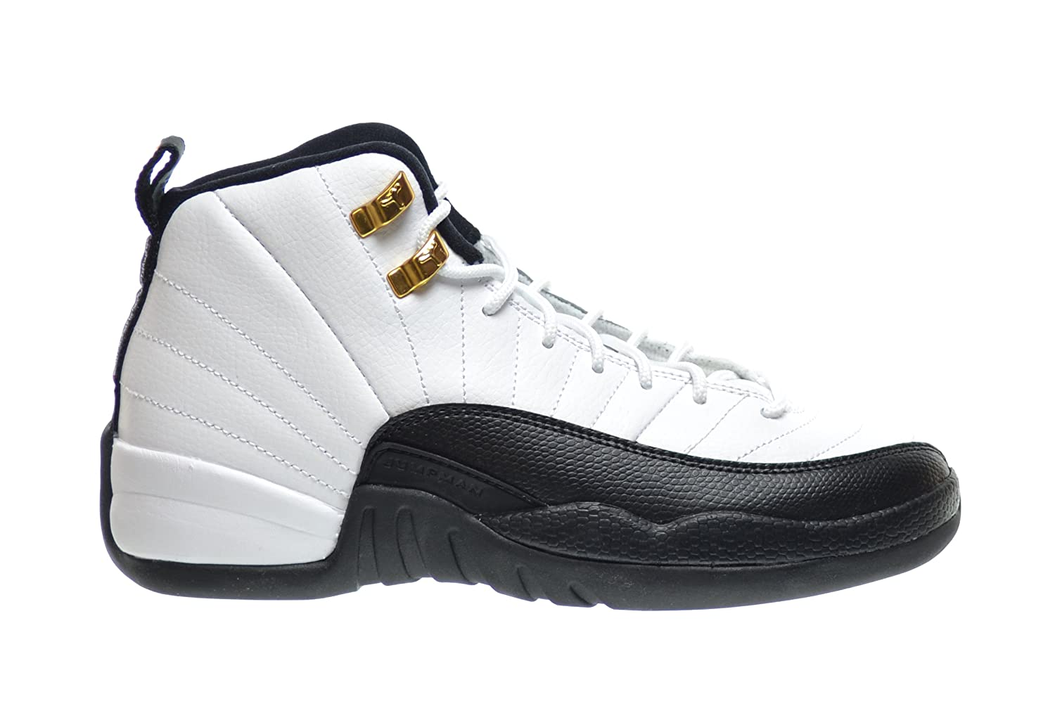 Air Jordan 12 Retro \\u0026quot;Taxi\\u0026quot; Big Kids Basketball Shoes White