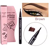 Long Lasting Waterproof Eyebrow Tattoo Pen Pencil Liner Eyebrow Makeup - Lasts Up to 7 Days! (Brown)