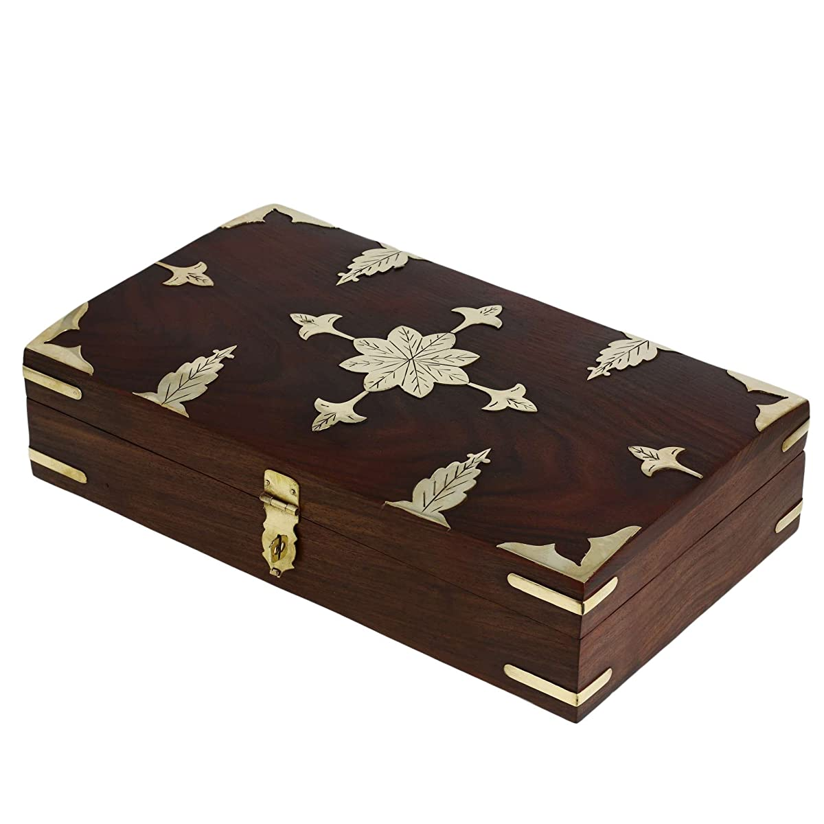 Antique style indian handmade wooden jewelry box for women for Handmade wooden jewelry box