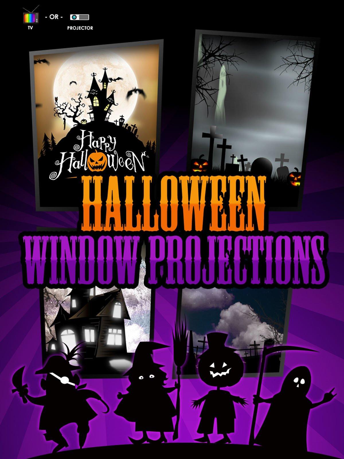 Halloween Window Projections