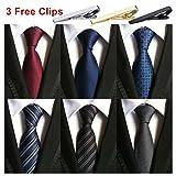 Weishang Pack of 6 Men's Classic Tie Silk Necktie Woven Jacquard Neck Ties (Set 4)