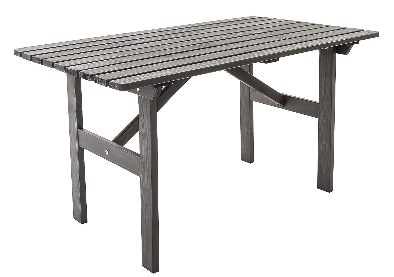 GARDENho.me Nordische Gartenmöbel Massivholz Tisch HANKO Gartentisch Esstisch Taupegrau günstig