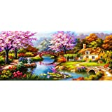 Sqailer 5D DIY Diamond Painting Full Square Drill Dream Home Rhinestone Embroidery for Wall Decoration 16X35 inches (Color: Dream Home, Tamaño: 16X35 inches)