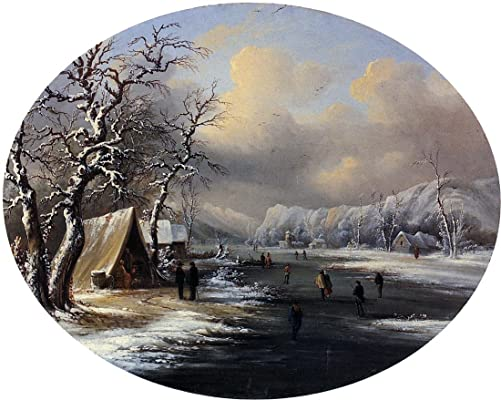 Skating on the Pond by Marie-Francois-Regis Gignoux