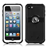 FAVOLCANO New Version Knight Series IP68 Underwater Waterproof Shockproof Snowproof Dirtproof Durable Full Sealed Protection Case with Kickstand for iPod Touch 5th 6th Generation (White) (Color: White)