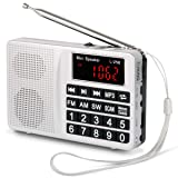 PRUNUS Portable SW/FM/AM (MW)/MP3/USB/SD/TF Radio. Large Button and Large Display. Stores Stations Automatically. Allowing The User to Play Stored MP3 Files. (No Manual Memory Stations Function) (Color: silver)