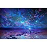 Diamond Painting Full Drill Square 5D DIY Blue Night Sky Rhinestone Gems Embroidery Arts Craft Adults' Children's Paint-by-Number Kits Cross Stitch for Home Wall Decoration 12X17.5 inches (Color: Sky, Tamaño: 12X17.5 inch)