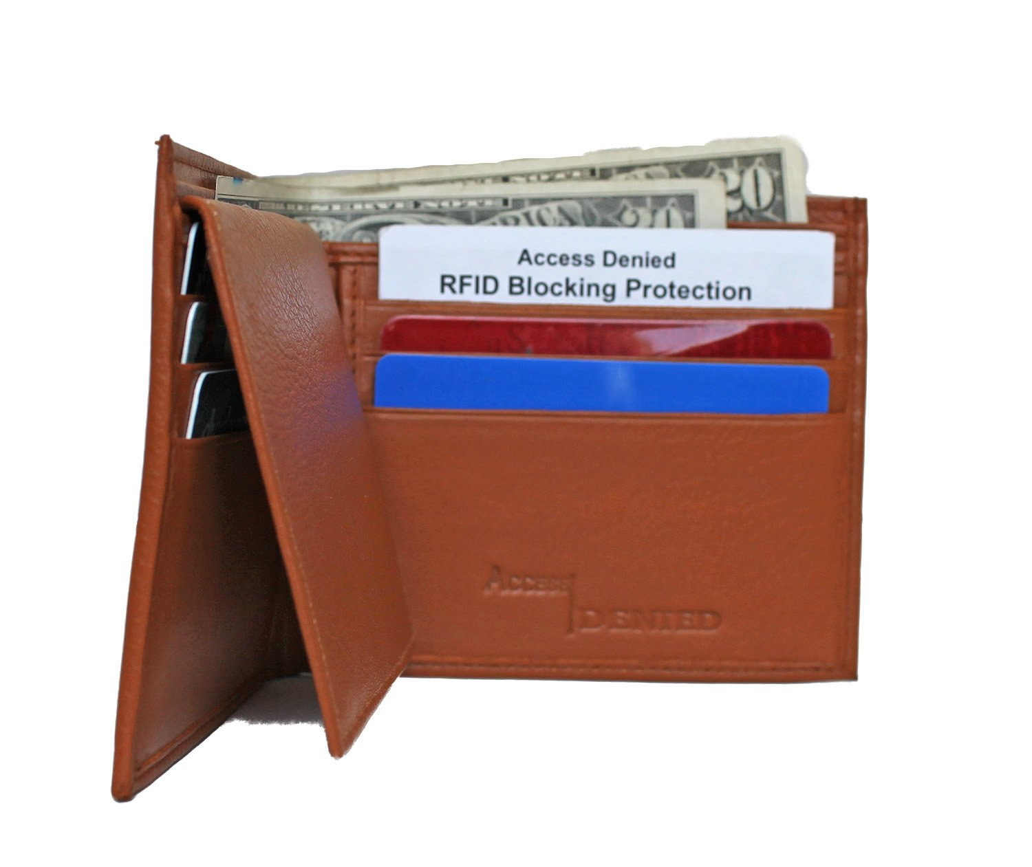 RFID Blocking Men's Bi-Fold Leather Wallet by Access Denied