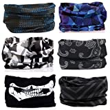 KALILY Headwear Head Wrap Sport Headband Sweatband – 200+ Patterns Magic Scarf Camping, Running, Cycling, Fishing etc (Color: L Pack, Tamaño: Medium)