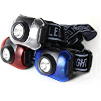 Journey's Edge Hands-Free 7-LED Headlamp Camping Flashlights (Pack of 3)