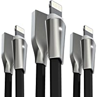 3-Pack Aimus Lightning Cable with Zinc Alloyed Connector & LED Light