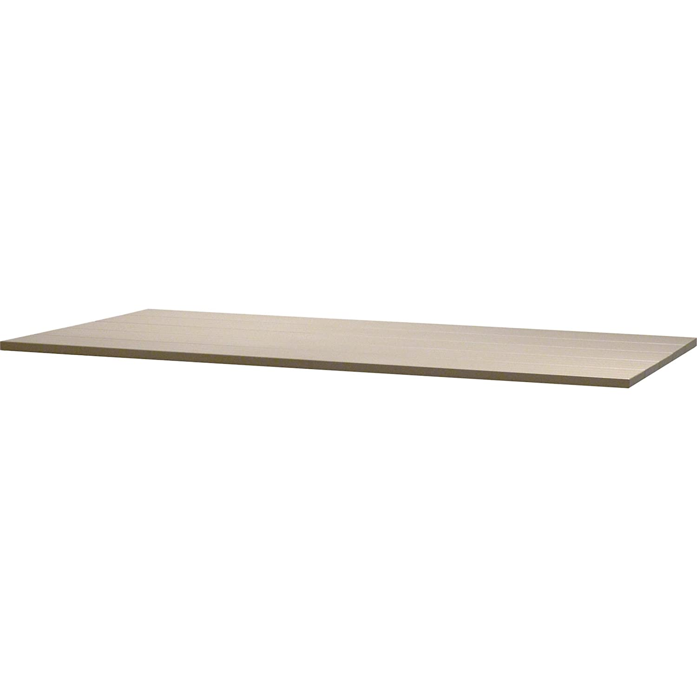 4Seasons Outdoor Rivoli Tisch Concept Alu-Lamellen mit Alugestell Weiß 170x95 cm