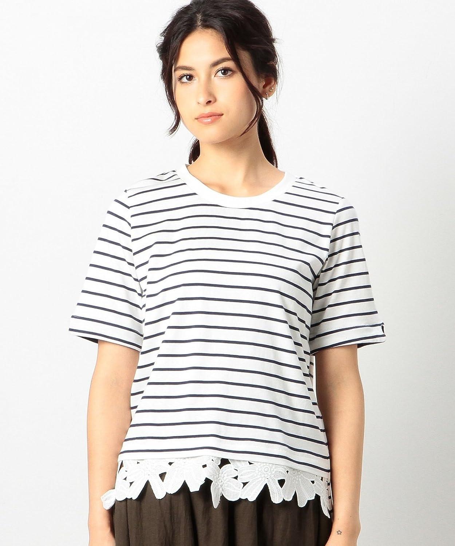Amazon.co.jp: (コーエン) COEN 裾レースドッキングボーダーTシャツ: 服&ファッション小物