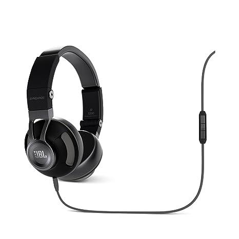 JBL Synchros S300I Casque Audio/Ecouteurs pour Apple avec commande 3-butons et micro Noir/Gris