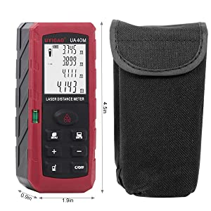 Professional Laser Distance Measure,UYIGAO 131Ft/40M Portable Measuring Tool for Distance, Volume, Pythagorean Mode, ±1.5mm Accuracy Laser Distance M