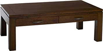 Table basse 110 110 x 60 cm 2 tiroirs cuisine maison maison o237 - Table basse prisme ...