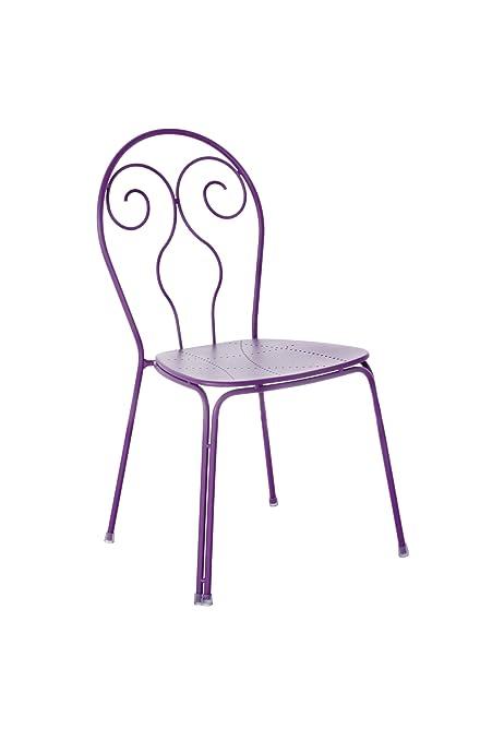 Emu 309308200 Caprera Stuhl 930, pulverbeschichteter Stahl, 4-er Set, lila