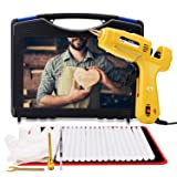 Hot Glue Gun with Glue Sticks 20 Pcs, High Temp Glue Guns kit Full Size(Not Mini),60/100W, All in one for DIY Projects, Arts and Crafts & Home, Professional Industrial Repair for Sealing Use,Gift (Color: Yellow and Black, Tamaño: 7.5 inch*6.3 inch*1.35 inch)