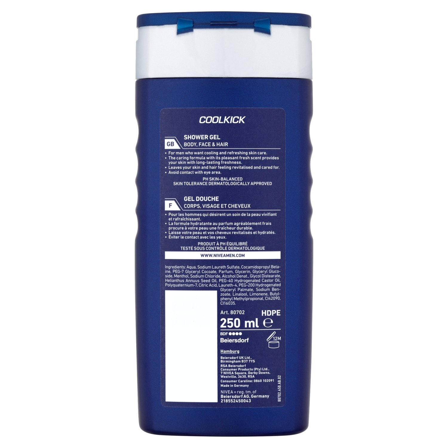 buy nivea bath care shower gel cool kick for men 250 ml online at low prices in india amazonin