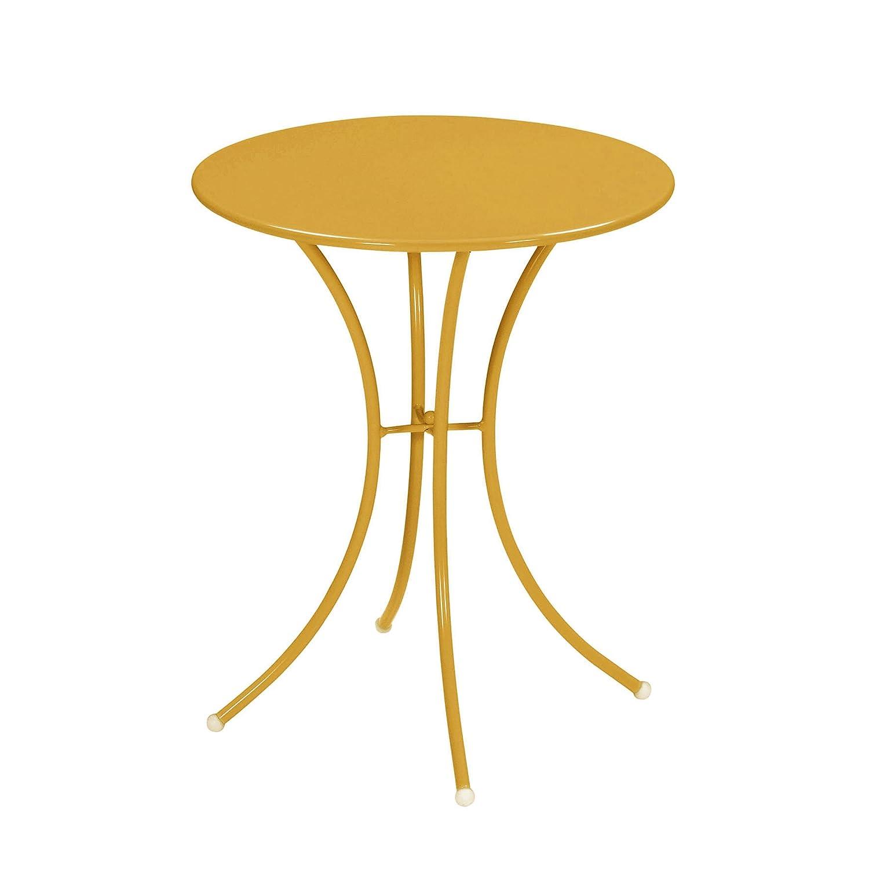 Emu 309056800 Pigalle Tisch 905, ø 60 cm, pulverbeschichteter Stahl, orange
