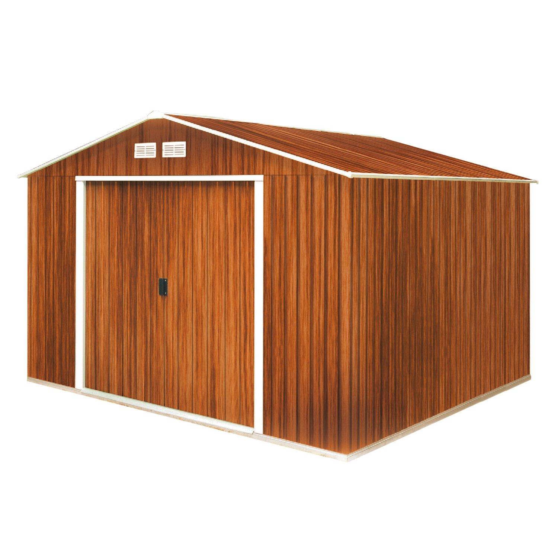 Tepro Gartenhaus / Metallgerätehaus Titan 8x10 Holzoptik