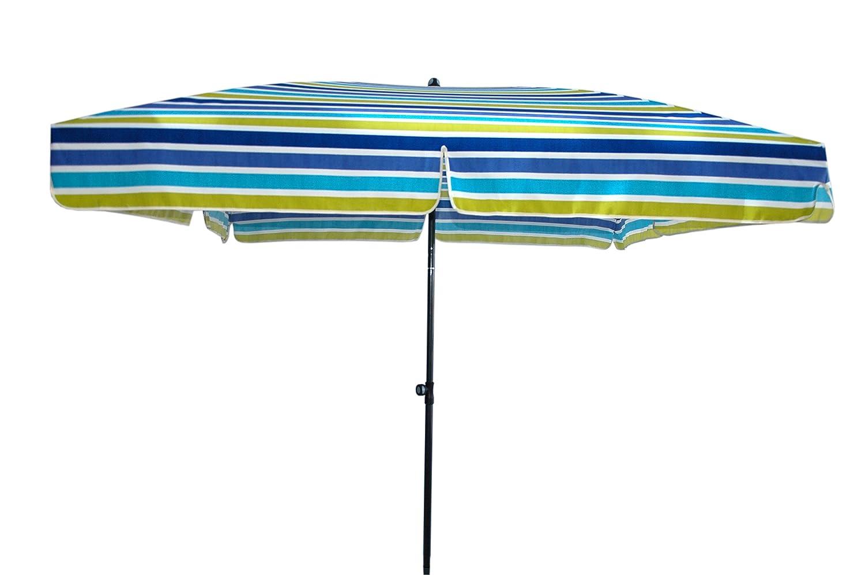 Doppler Gartenschirm Sun Line III 200x200 quadratisch mit UV-Schutz 50, Farbe blau gestreift