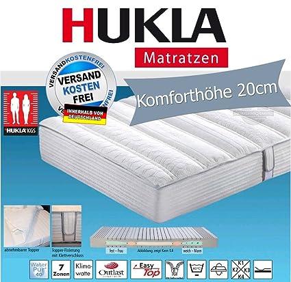 Hukla i night 300 Konfektionsgrößen-Matratze mit Outlast®-Topper, Größen Matratzen:180 x 190 cm;Härtegrad Matratzen:K4