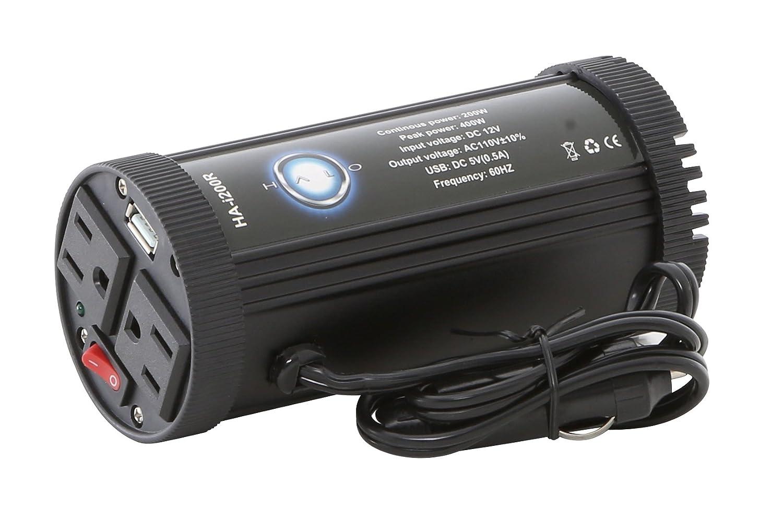 Halo Automotive HA-i200R Cup Power Inverter, 200-watt