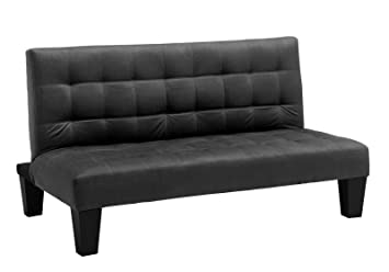 DHP Ariana Junior Microfiber Futon Couch, Full, Black