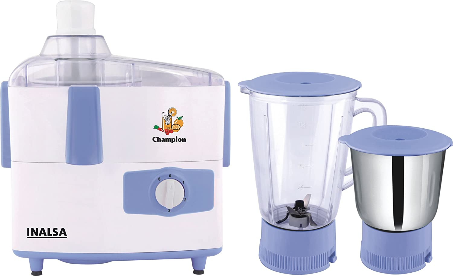 Winter Appliances Store!! Upto 50% off On Winter Appliances By Amazon   Inalsa Champion 450-Watt Juicer Mixer Grinder (White/Light Blue) @ Rs.1,799