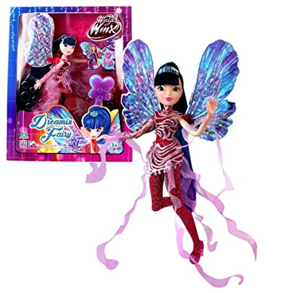 World of Winx - Dreamix Fairy - Musa Poupée 28cm avec Robe Magique