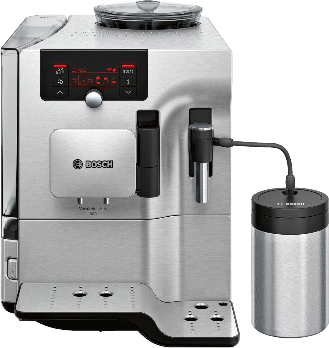 Bosch TES80551DE Kaffeevollautomat VeroSelection 500, EdelstahlÜberprüfung und weitere Informationen