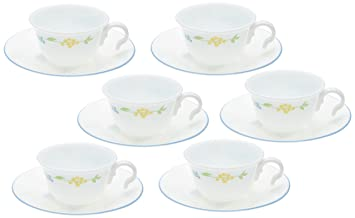 Buy Corelle Essential Secret Garden Round Cup and Saucer Set 12