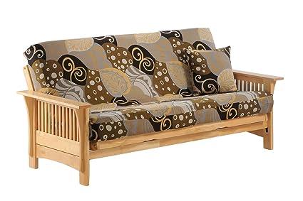 Autumn Twin Lounger Futon Frame in natural finish Furniture