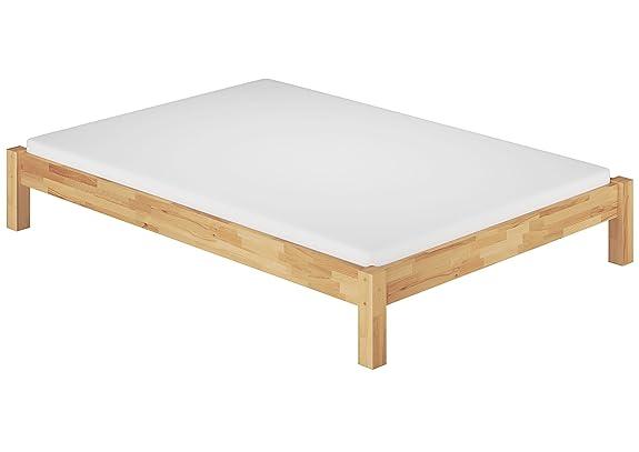 Solido letto futon 180x200 faggio massello Eco laccato con assi di legno,materasso 60.84-18 M2