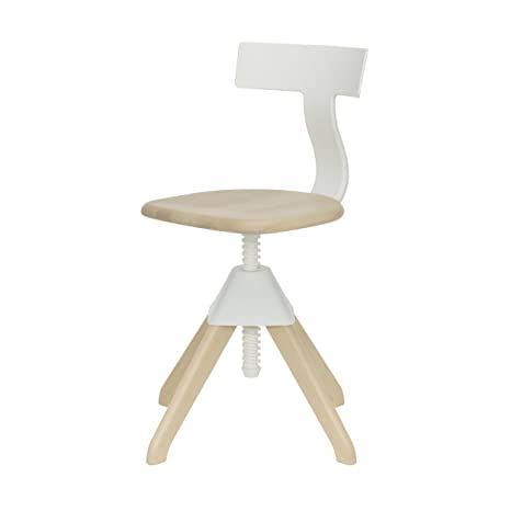 Tuffy The Wild Bunch Chair white/frame beech/rotating/H: 71-90cm /seat height: 42-61cm