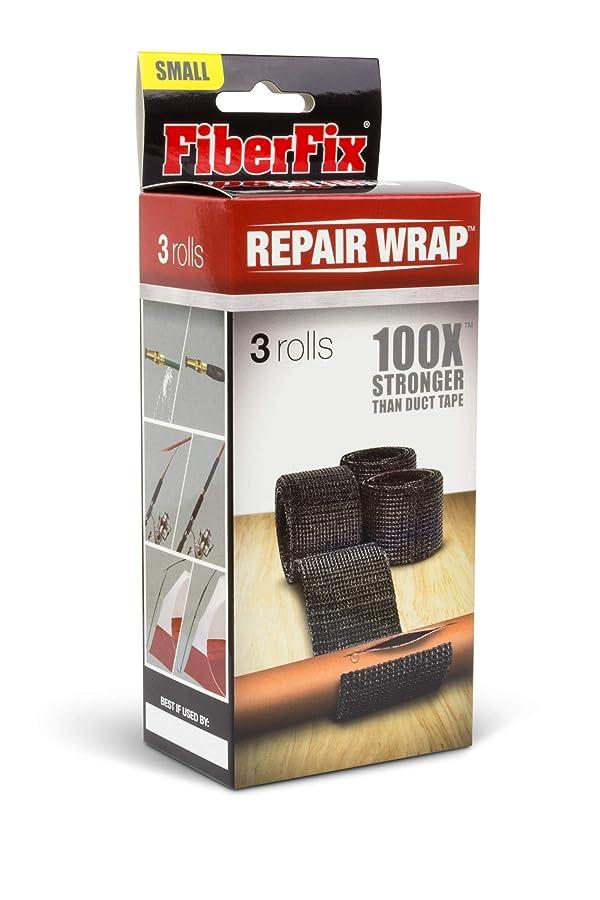 FiberFix Repair Wrap - Permanent Waterproof Repair Tape 100x Stronger than Duct Tape 1 (3 Rolls) (Color: Black, Tamaño: 1)