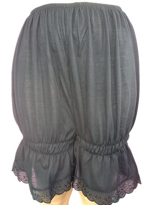 Frauen Handgefertigt Halb Slips UL2CBK Black Half Slips Cotton Women Pettipants Lace jetzt bestellen