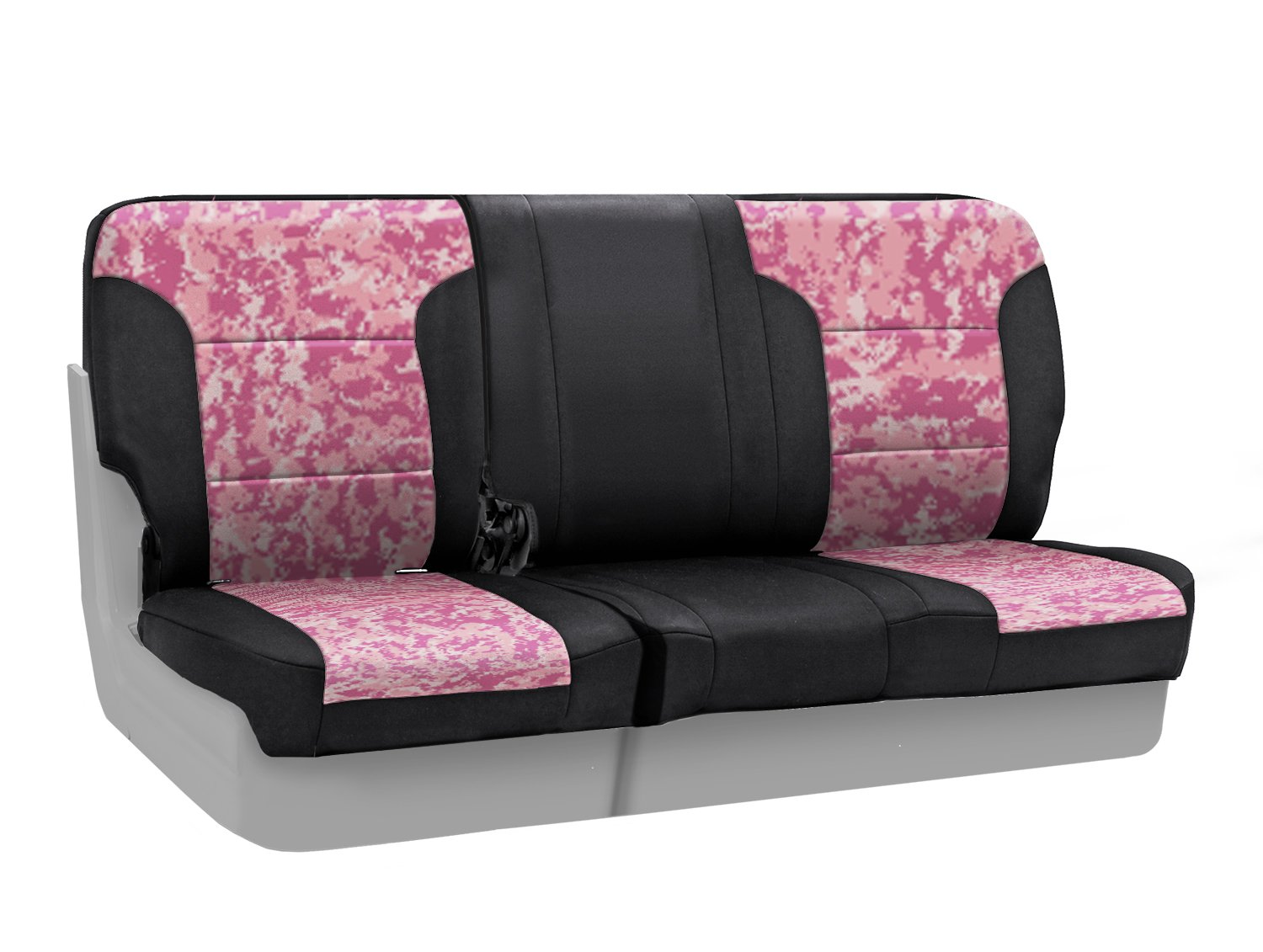Coverking Center 60/40 Bench Custom Fit Seat Cover for Select Toyota Sequoia Models - Neosupreme (Digital Pink Camo with Black Sides) coverking front 50 50 bucket custom fit seat cover for select chevrolet monte carlo models genuine leather black