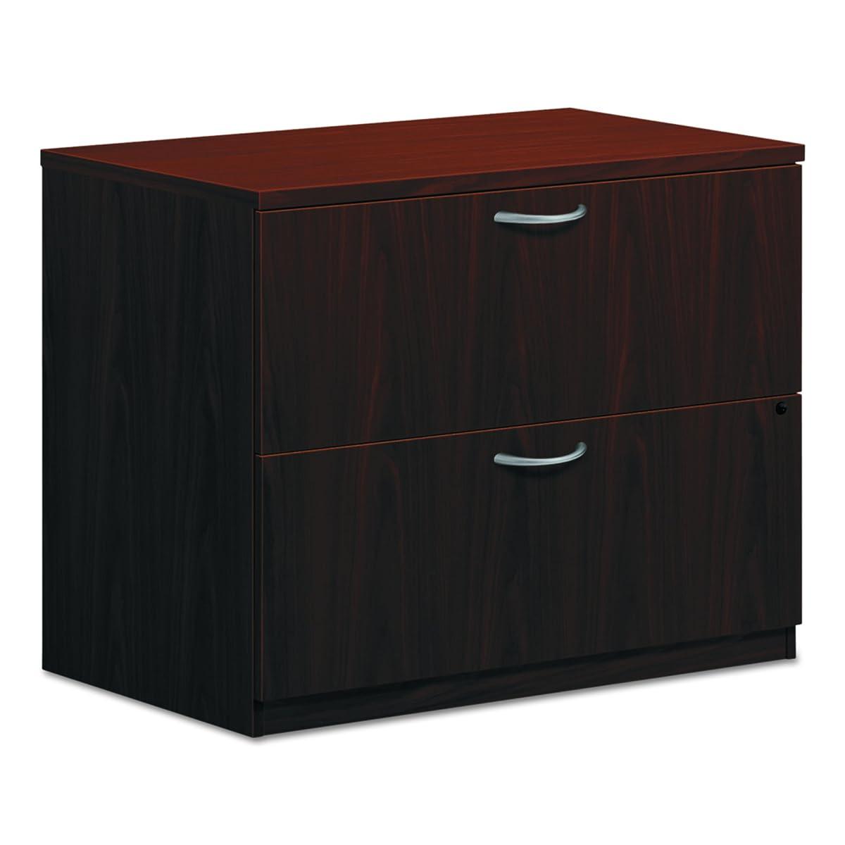 "HON 2-Drawer Office Filing Cabinet - BL Laminate Series Lateral File, 22"" D, Mahogany (HBL2171)"