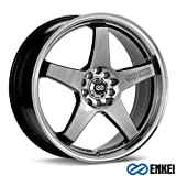 Enkei EV5 Hyper Black (17x7) +45 (5x100/5x114.3) (Color: Black, Tamaño: 17x7)