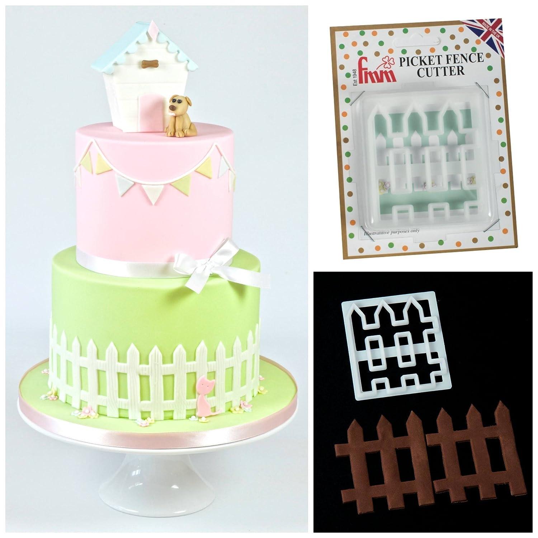 White Picket Fence Cake Decoration