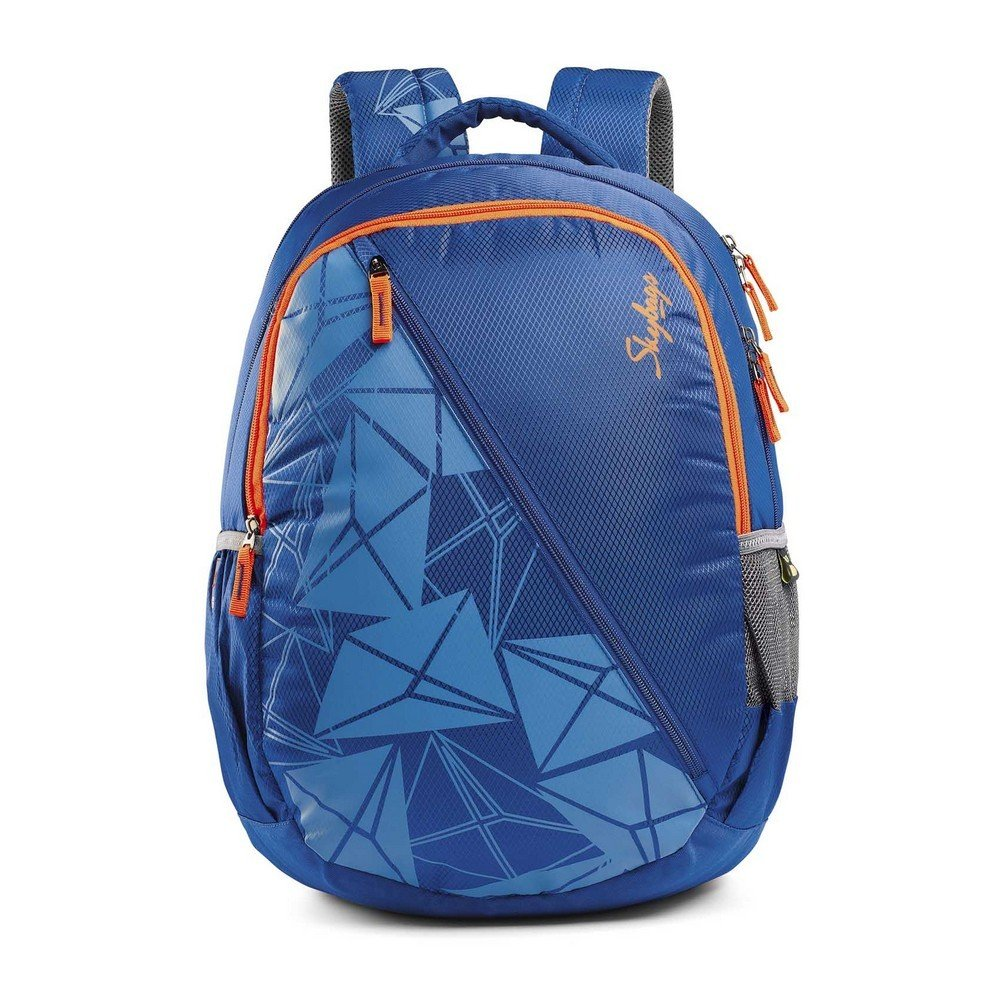 School bags online cash on delivery - Skybags Pogo Polyester 32 Liters Blue School Backpack Amazon In Bags Wallets Luggage