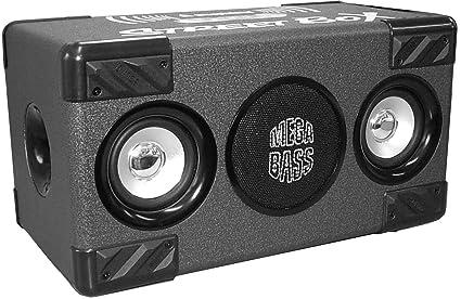 Steepletone SM0025 London Street Box Bluetooth Speaker Boombox système MP3 (NOIR)