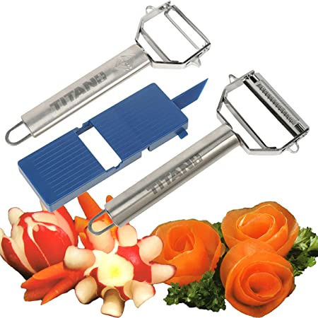 Trademark Titan Peeler Plus Julienne Tool and Slicing Board