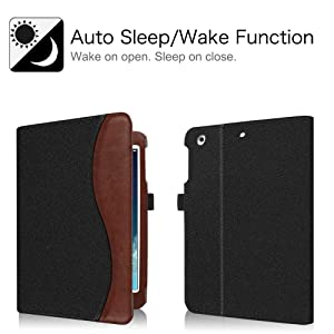 Fintie iPad Mini/Mini 2 / Mini 3 Case [Corner Protection] - [Multi-Angle Viewing] Folio Smart Stand Protective Cover w/Pocket, Auto Sleep/Wake for Apple iPad Mini 1 / Mini 2 / Mini 3, Denim (Color: Z-Denim Black)