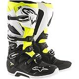 Alpinestars Men's Tech 7 Enduro Boots (Black/White/Yellow, Size 14)